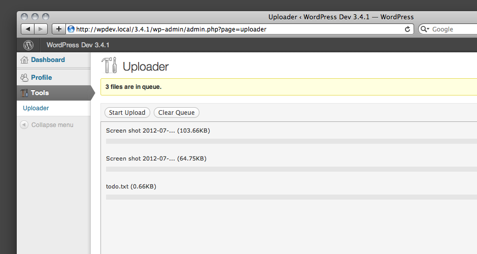 WordPress Uploader Plugin